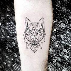 Geometric Wolf Tattoo by Pablo Díaz Gordoa