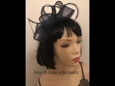 How to make a fascinator hat, quick and easy DIY loop headpiece tutorial - YouTube