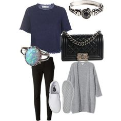 School day by camilla-tartaglia on Polyvore featuring polyvore, mode, style, Topshop, Gucci, Vans and Chanel