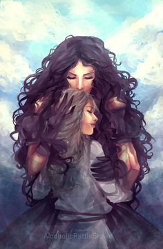 Yennefer of Vengerberg Fan Page Character Inspiration, Character Art, Character Design, Fantasy Characters, Female Characters, Mother And Daughter Drawing, Witcher Wallpaper, Witcher Art, Ciri Witcher