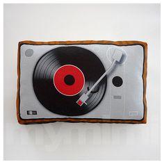 Decorative Pillow, Mini Pillow, Throw Pillow, Toy Pillow, Stuffed Toy  - Vinyl Player on Etsy, $18.00