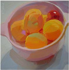 Karen O'Neil: fruit, fresh, bold, colorful, contemporary, sunny, warm