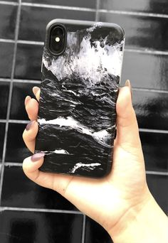 Getting coal for Christmas isn't bad Black Marble Case for iPhone X, iPhone 8 Plus / 7 Plus & iPhone 8 / 7 from Elemental Cases #blackmarble #elementalcases #iphonex #iphone8plus #iphone8 #iphone7plus #iphone7 #naughtyornice #christmas