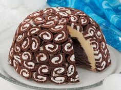 Swiss Swirl Cream Cake. Jacqui made this and it will definitely be made again. We thought that adding a layer of oreo crunch could only improve it.