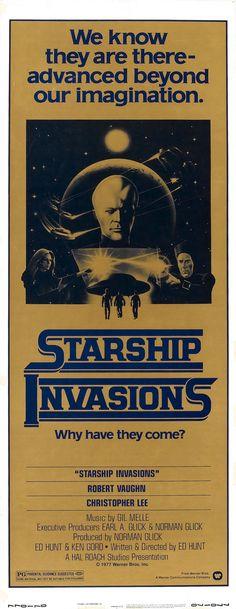 Starship Invasions (1977)Stars: Robert Vaughn, Christopher Lee, Daniel Pilon, Tiiu Leek, Helen Shaver ~  Director: Ed Hunt