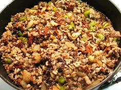 This Charles Dickens-style chestnut and wild rice stuffing is the perfect accompaniment to roast goose or turkey.
