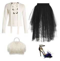 """Black and white"" by abarrera-i on Polyvore featuring Joseph, Elie Saab and Jimmy Choo"
