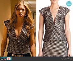 Josslyn's mesh plunge neck top on Mistresses.  Outfit Details: https://wornontv.net/58578/ #Mistresses