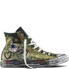 Chuck Taylor All Star Graffiti Blanc/Vert/Multicolore white/green/multi.  Green ConverseConverse ShoesSneakers ...