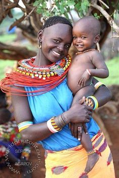 What a picture! Mother and child so happy!