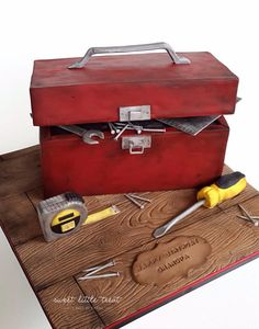 A well used toolbox - Cake by Sweet Little Treat
