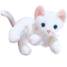 TY Beanie Baby - FLIP the White Cat (4th Gen hang tag) (7.5 c459e95203ba