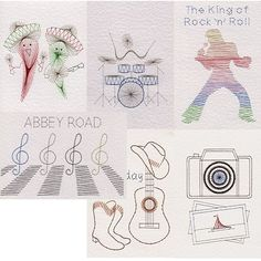 Singles Collection 3: Music in Value Packs patterns at Stitching Cards - ePatterns for paper embroidery