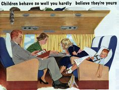 z- Airplane Seating- ''Sat Eve Post', Oct. 1955 (American's Airlines- ad)