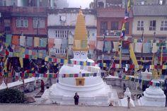 Nepal - Kathmandu, Architecture, stupa of Bodhnath