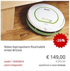 "#Robot #aspirapolvere ricaricabile #Ariete ""Briciola"""
