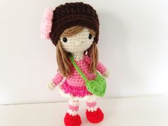 Crochet Doll / Amigurumi Girl Rose Doll 9.5  In by HelloSweetKids