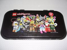 Lego Minifigures Minifigs Carrying Case Series 8 Black Storage 2012 #LEGO