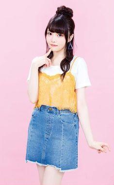 もちょ Preety Girls, Cute Girls, Japanese Girl, Asian Fashion, Outfit, Denim Skirt, High Waisted Skirt, Beautiful Women, Kawaii