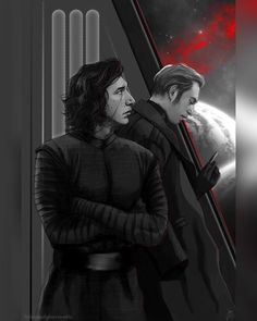 """3,156 Likes, 17 Comments - Star Wars Fanaticus (@starwarsfanaticus) on Instagram: """"Kylo and Hux by littlestStarfighter. (tumblr) Follow @StarWarsFanaticus ! and tag your friends…"""""""