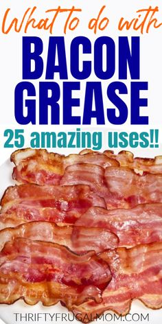 Not sure what to do with bacon grease? There's no need to toss it! Instead, give one of these amazing uses for bacon grease a try! You'll save yourself money and reduce your waste too. It's a win all around! Baked Beans With Bacon, Pork N Beans, Bacon Grease Uses, Cooking Supplies, Cooking Tips, Homemade Refried Beans, Cooking Equipment, Food Waste, Low Calorie Recipes