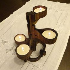 Wooden Tealight Holder by SoyleWoods on Etsy