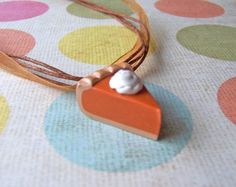 Pumpkin pie necklace charm