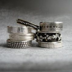 collection of silver rings - love them #jewellery #accessories