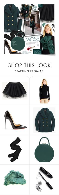 """Moss - exact match"" by federica-m ❤ liked on Polyvore featuring Christian Louboutin, J.Crew, Fogal and Bobbi Brown Cosmetics"