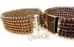 Hubbled 8s Bracelet Tutorial by Carole Ohl di openseed su Etsy