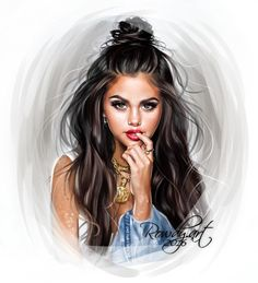 Uploaded by selena gomez. Find images and videos about selena, arianagrande and selenagomez on We Heart It - the app to get lost in what you love. Selena Gomez Drawing, Selena Gomez Cute, Estilo Selena Gomez, Selena Gomez Pictures, Cartoon Girl Drawing, Girl Cartoon, Cartoon Art, Digital Art Girl, Digital Portrait