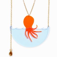 Sea Creature Octopus Necklace | Little Moose | Cute bags, gifts, toys, jewellery and accessories from independent designers and famous brand...