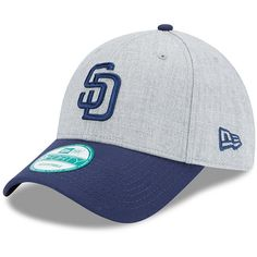 San Diego Padres New Era 9FORTY The League Adjustable Hat – Heathered Gray/Navy