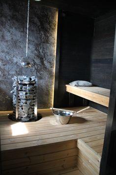 Playful color palette for sauna