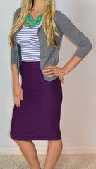 Scrunchy Skirt - SexyModest Boutique...purple