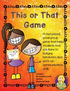 A fast paced, small group game that helps students find solutions to bullying…