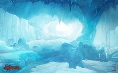 Ice-cave by AKIRAwrong on deviantART