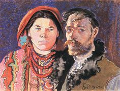 The Athenaeum - Self-Portrait with Wife (Stanislaw Wyspianski - )