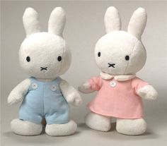#nijntje #miffy - Fluffy cuddly toys! Our little girl would love these!!