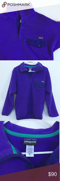 Men's Patagonia Snap T Pullover Men's Patagonia Synchilla Snap-T Fleece Pullover | Purple | Perfect Condition | Fits like a Women's medium Patagonia Patagonia Jackets & Coats