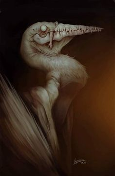 Inquissien — a lovely day to be painting ducks Dark Creatures, Alien Creatures, Mythical Creatures, Monster Concept Art, Monster Art, Creepy Monster, Creature Concept Art, Creature Design, Arte Horror