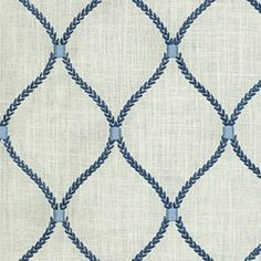 Deane Embroidery Porcelain Drapery Fabric by Waverly