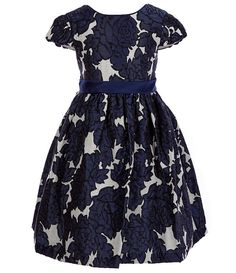 24c6f4eb485 Bonnie Jean Little Girls 2T-6X Floral Brocade Dress Girls Holiday Dresses,  Xmas Party