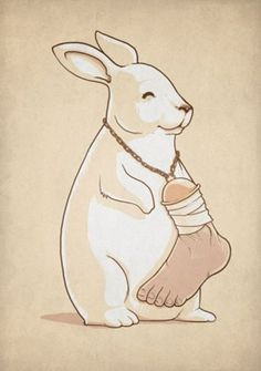 In A Parallel Universe - Rabbit Wears Lucky Human Foot