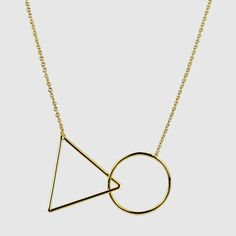 Triangle Short Gold Necklace