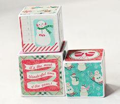 Winter Magic Christmas Decorative Wooden Blocks on Etsy, $21.80 AUD