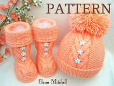 Knitting PATTERN Baby Shoes Baby Set Pattern Baby Booties Baby