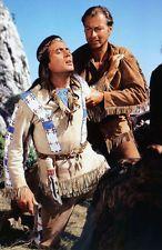 Karl May, Winnetou 3. Teil: Dreharbeitenfoto von Pierre Brice & Lex Barker