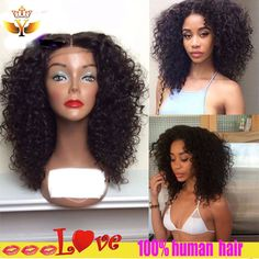 77.39$  Watch here - http://alizu4.worldwells.pw/go.php?t=32787709612 - Kinky Curly Wig With Baby Hair Glueless Full Lace Human Hair Wig For Black Women 8A Curly Lace Front Human Hair Wig Top Quality