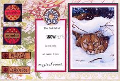 WILDLIFE CHRISTMAS CARDS; set of four, approximately 5 x 7 with envelopes, blank cards, from my own original art, by OriginalSandMore on Etsy